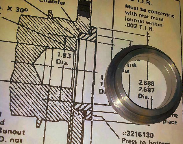 Adaptorearlcrank on Amc 343 High Performance Engine